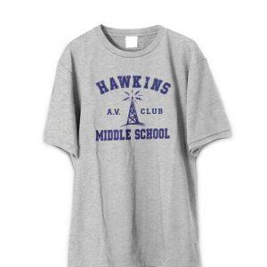 Stranger Things Hawkins Middle School AV Club Adult T-Shirt