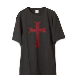Crusader Knights Templar Distressed Cross T-Shirt
