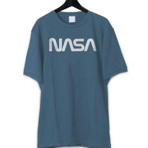 Men's Retro Vintage NASA Worm Logo Premium Soft T-Shirt