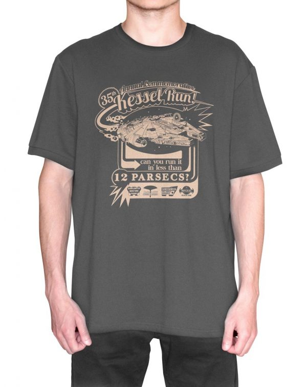 Star Wars 35th Annual Commemorative Kessel Run MILLENIUM Falcon T-Shirt