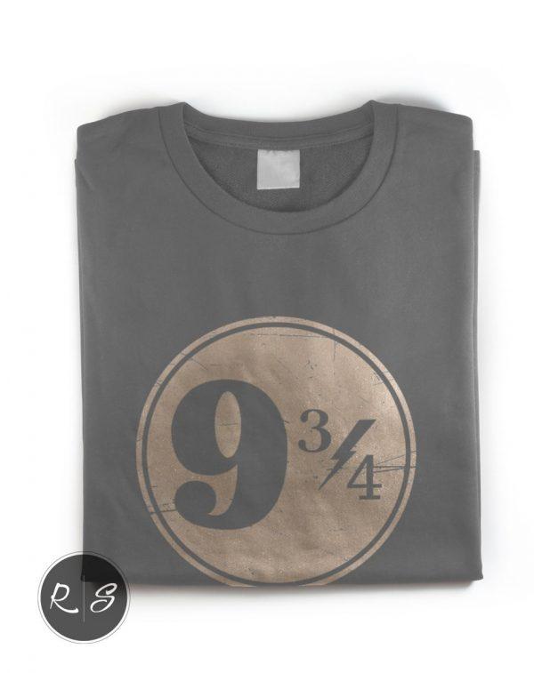 Harry Potter Hogwarts 9 3_4 T-Shirt - Front Folded-min