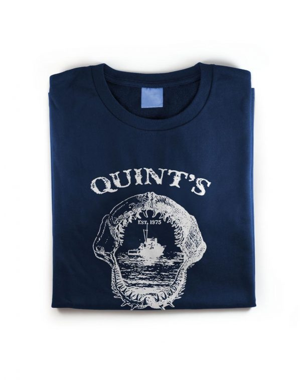 Quins Shark Fishing Amity Island T-Shirt Shot2